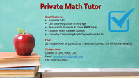 PRIVATE MATH TUTOR
