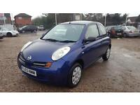 2003 Nissan Micra 1.2 16v S Long MOT 3 Owners Bargain
