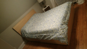 Ikea malm queen bed frame and mattress