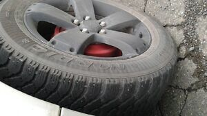 (4) P235/55R17 Goodyear Notdic Winter Tires on Saturn Wheels St. John's Newfoundland image 3