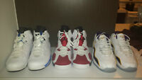 JORDAN RETRO 6 CARMINE & RETRO 6 SPORT BLUE, AIR ZOOM FLIGHT 96