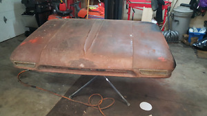 60 to 66 gmc chevy hood very solid just surface rust