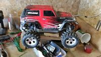 new traxxas telluride with new brushless system & slash roller