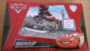 Cars Lightning McQueen Roller Blades/Skates Adjustable Size 12-2