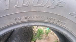 265/65 R17 all season tires