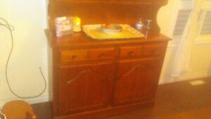 50 year old country dinning room hutch