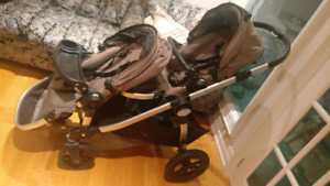 Double baby jogger city select with adapter and accessories
