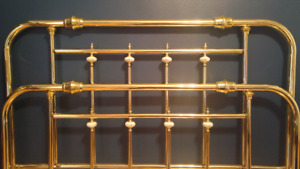 Brass Headboard and Footboard (Queen Size)