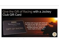 Jockey Club Gift Cards (£50 denominations) selling for £40 each