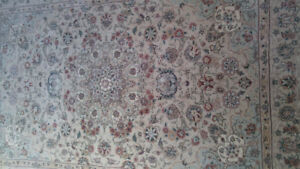 2 Persian Carpets Silk and Wool runner and area rug