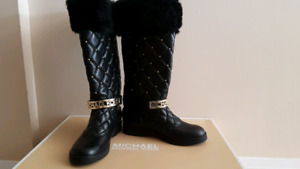 Michael Kors Winter Boot Leather Size 5 1/2M