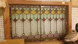 Beautiful colorful antique stained glass window London Ontario image 3