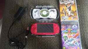 Pink Playstation Portable psp 3000 New 2400 mah Battery, games a
