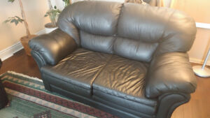 Leather sofa 3 piece - great condition