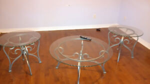 Coffee table with side tables on sale