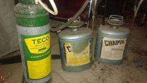 antique pressure sprayer cans