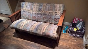HIGH QUALITY WOOD FUTON - EXCELLENT CONDITION - SMOKE FREE HOME Cambridge Kitchener Area image 1