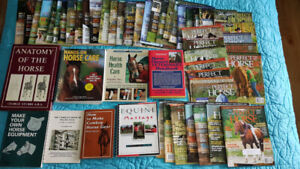 Horse health and training books.  Lot nine