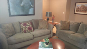 Beautiful Couch -Loveseat set and coffee table-end table.