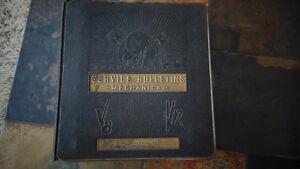 Livre Service Bulletins Mechancal Antique 1940