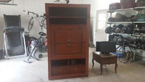 Meuble de TV en bois avec des tiroirs pour rangement