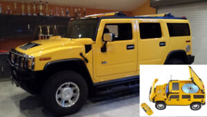HUMMER H2 TRUCK CLOCK RADIO - A COLLECTOR'S PIECE