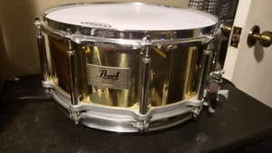 Pearl Brass 6.5x14 Free Floating Snare Drum