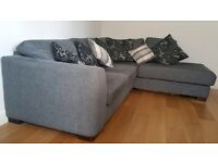 Grey fabric Dansk corner sofa