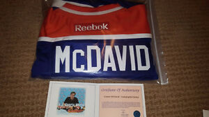 Connor McDavid Signed / Autographed Blue Edmonton Oilers Jersey Strathcona County Edmonton Area image 5