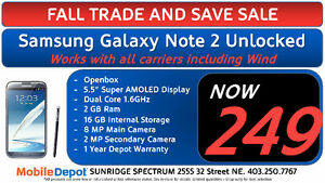 SALE - SAMSUNG GALAXY NOTE 2, NOTE 3, NOTE 4, NOTE 5 UNLOCKED