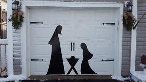 Christmas Nativity - Removable Jesus - Garage Door -Easy Storage