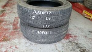 Pair of 2 Bridgestone Dueler HT 225/65R17 tires (55% tread life)