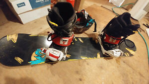 Youth board, bindings& boots.