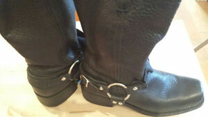 Women's Black Leather Boots - Sz 8.5 - Brand New! Never Worn