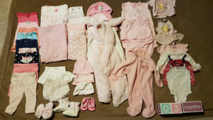 Baby Girl Clothing/Miscellaneous Lot (0-3 months)