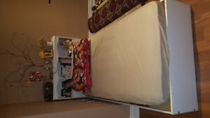White Children Bed with Headboard and mattress