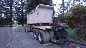 2001 knight four axle transfer trailer for sale