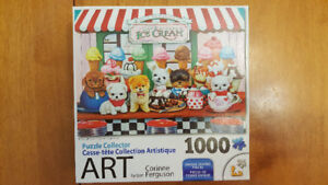 Puppy Ice Cream Parlour 1000 Piece Puzzle
