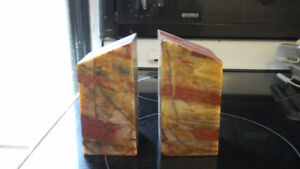 2 marble book ends