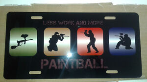 Paintball vanity plate / plaque d'immatriculation personnalisée