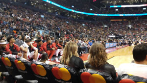 ** COURTSIDE ROW Cs ** Right Beside The RAPTORS BENCH! **