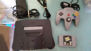 Nintendo 64 System Complete with Space Invaders Game - N64