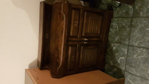 Antique record player / 8 track with cabinet