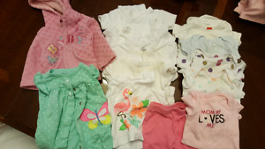 13 items girls 0-3 months clothing - $10!!