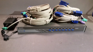 TRENDNET TK 801R KVM PC COMPUTER SWITCHER SPLITTER