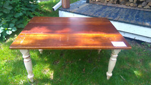 Antique style solid wood dining table