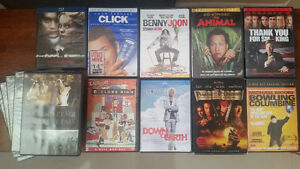 Collection of DVDs, Blu-ray disks as shown