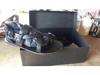 Unused All Saints leather Sandals (size 8)