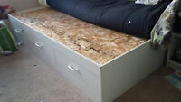 Twin Bed with drawers - moving sale