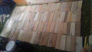 Broken down pallet wood
